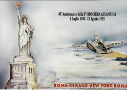 C-2385 Cartolina 60' Anniversario Della 2' Crociera Atlantica Luglio-agosto 1933 - Demonstrationen