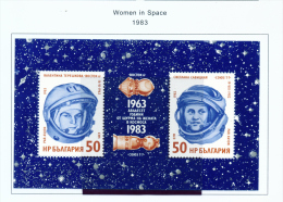 BULGARIA  -  1983  Women In Space  Miniature Sheet  Unmounted Mint - Neufs