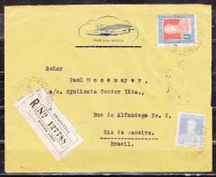 Luftpost, Einschreiben Reco, MiF San Martin, Buenos Aires Nach Rio De Janeiro 1933 (50303) - Argentinien