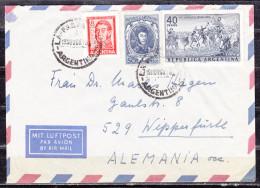 Luftpost, MiF Schlacht Von Maipu U.a., La Falda Nach Wipperfuerth 1968 (50351) - Argentinien
