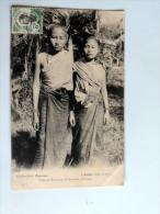 Carte Postale Ancienne : LAOS : Filles De Mandarins Du Bas Laos , Khong , Timbre - Laos