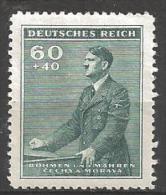1942 60h+40h Hitler, Semi-postal, Mint Light Hinged - Unused Stamps