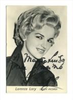 Autografo Lorenza Lory - Cantante - Autographes