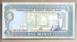 Turkmenistan - Banconota Non Circolata Da 5 Manat - Turkmenistan