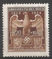 1944 4.20k+10.80k Emblem, Semi-postal, Mint Light Hinged - Unused Stamps