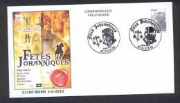 FRANCE 2012. OBLITERATION. FÊTES JOHANNIQUES. JEANNE D´ARC. REIMS - Histoire