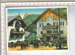 AB43222 ORTISEI SAINT ULRICH HOTEL AOSTA CAVALLINO BIANCO ALBERGHI CARROZZE CAVALLI - Bolzano (Bozen)