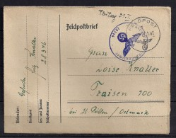 WWII, AUSTRIA 1941, CORREO DE CAMPAÑA,  FELDPOST 28346,  CIRCULADO A TRAISEN - Briefe U. Dokumente