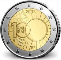 """Bélgica 2 Euros 2.013 Bimetálica """"Instituto Metereológico"""" SC/UNC   T-DL-10.820 - Belgium"""