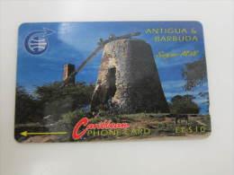 GPT Magnetic Phonecard,3CATA Sugar Mill,used - Antigua And Barbuda