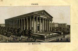 CHROMO .MAISON DU PONT DE PIERRE A ROUEN...PARIS..LA MADELEINE - Cromos