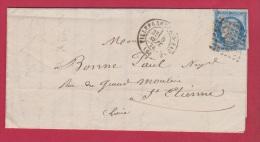 FACTURE DE VILLEFRANCHE SUR SAONE  //  POUR ST ETIENNE //  5 SEPT 1874 - Marcophilie (Lettres)