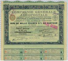 Cie Générale Aeropostale, Avenue Des Champs Elysees - Aviation