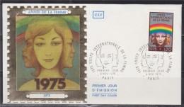 = Sociologue, Historien Et Géographe Français,  Année De La Femme  N°1857 1er Jour Paris 08.11.75 Portraits De Femmes - 1970-1979