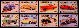 VOITURES RECENTES ET ANCIENNES 1986 - NEUFS ** - YT 594/01 - MI 626/33 - Gambie (1965-...)