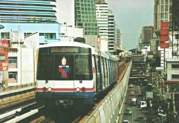 UNDERGROUND SUBWAY METRO RAIL RAILWAY RAILROAD TRAIN SKYTRAIN SHUKUMVIT BANGKOK THAILAND THAI * Top Card 0290 * Hungary - Metro