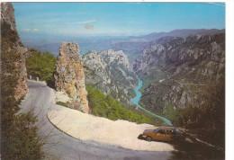 Carte Postale Des Années 80 - Les Gorges Du Verdon - Automobile - Francia