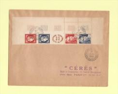 Centenaire Du Timbre Poste - Paris - 1err Juin 1949 - 1921-1960: Periodo Moderno