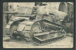 54. LUNEVILLE.(MEURTHE- ET- MOSELLE) CHAR RENAULT DE COMBAT.. RARE....C1498 - Matériel
