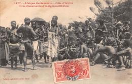 ¤¤  -  1477  -  Afrique Occidentale  -  COTE D'IVOIRE  -  Divertissements D'Indigènes ( Ebriés ) - Femmes - Côte-d'Ivoire