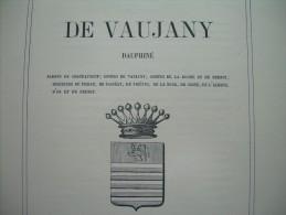Document 1867.. 4 Pages BLASON HIERALDIQUE..de VAUJANY, DAUPHINE - Historical Documents