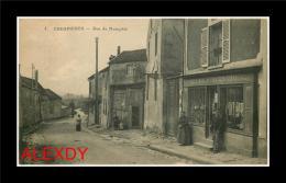 (D6L) 78 CRESPIERES Carte Rare *** Commerce Rue & Route De Neauphle *** - France