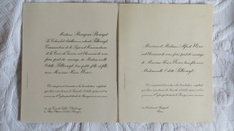 FAIRE PART MARIAGE 1930 FAMILLE PILLIVUYT BOURGES  AVEC FAMILLE WENZ PARIS - Annunci Di Nozze