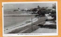 Harbour Island Bahamas Old Real Photo Postcard Mailed To USA - Bahamas