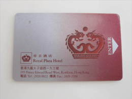 Hong Kong Royal Plaza Hotel,with Scratch And Backside Cover Damaged - Hotel Keycards