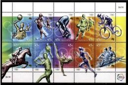 AUSTRALIA 2000 - SYDNEY OLYMPICS - MINIS SHEET 10 STAMPS - YVERT 1849-1859 - Verano 2000: Sydney