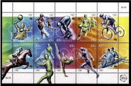 AUSTRALIA 2000 - SYDNEY OLYMPICS - MINIS SHEET 10 STAMPS - YVERT 1849-1859 - Summer 2000: Sydney