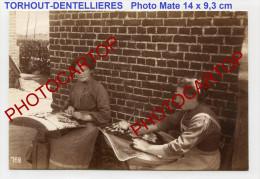 DENTELLIERES-Klöppelei-TORHOUT-Dentelle-Metier-animation-Type-Photo Allemande-Guerre 14-18-1WK-BELGIEN-Flandern- - Torhout