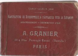 Manufacture De Robinetterie & D´appareils Pour Le Bâtiment.A.GRANIER.134 Pages.tarif Album 1899. - Bricolage / Technique