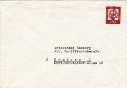 Strange YHHN Cancel On Stamp Mailed From Seemannsschule Hamburg To Airbeitsamt Hamburg  (G49-56) - BRD