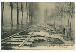 CPA 1910 Bray - Vimpelles (77) Inondation De La Vallée De Bray Voie Du Tramway Bray-Vimpelles - Bray Sur Seine