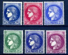 Y&T N° 372**/376** - Unused Stamps