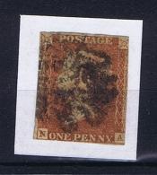 Great Britain SG  8 Used  Yvert 3, Obl. Maltese Cross - Used Stamps