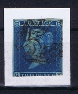 Great Britain SG  14   Yv Nr 4, Used Obl Black Maltese Cross - Gebruikt