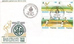 TENNIS, SRI LANKA, 1990, FDC / Special Postmark !! - Tennis