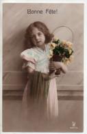 Jolie Fillette Et Panier De Fleurs, Bonne Fête, Ajoutis De Peinture, éd. RPH N° 3321/5 - Portraits