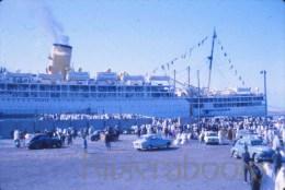 P59 - Paquebot � identifier port Algerie ?? 1966 - automobiles - diapositive photo