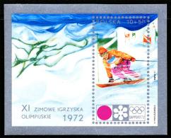 Pologne BL 055** ND-  Jeux Olympiques De Sapporo 1972 MNH
