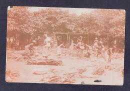 RP CHOPPING WOOD WOMEN AT WORK ETHNIC UNIDENTIFIED AFRICA POSTCARD UNKNOWN LOCATION - Postcards