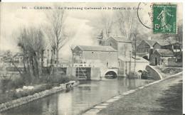 CAHORS ( Lot ) -  FAUBOURG CABESSUT ET MOULIN DE COTY -  1908 - Cahors