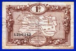 BON - BILLET - MONNAIE - CHAMBRE DE COMMERCE 51 UN FRANC REIMS CHALON SUR MARNE EPERNAY DU 10 10 1920 N° 1.210.142 - Chambre De Commerce