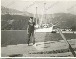 Boy In Port, Garçon, Errror Photo , Vintage Old Photo - Children
