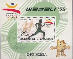 Blok Nrd.Korea 1991  Oblitérés / Used / Gestempeld - Sommer 1992: Barcelone