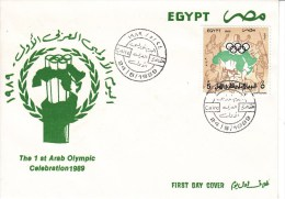 TENNIS, EGYPT, 1989, FDC / Special Postmark !! - Tennis