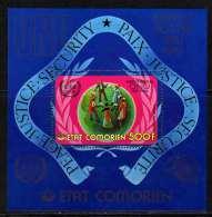 Comores BF N° 3 XX  25ème Anniversaire Des 1ers Timbres-poste Emis Par Les Nations-Unis, Le Bloc   Sans Charnière TB - Comores (1975-...)
