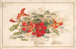 FANTAISIE  GAUFREE    FLEURS   BONNE ANNEE - Fantaisies